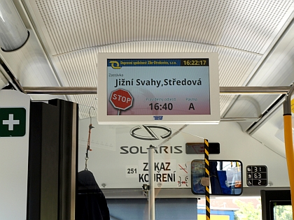Установка жидкокристаллической панели типа VCS 185E в троллейбусах Škoda 26 Tr Solaris