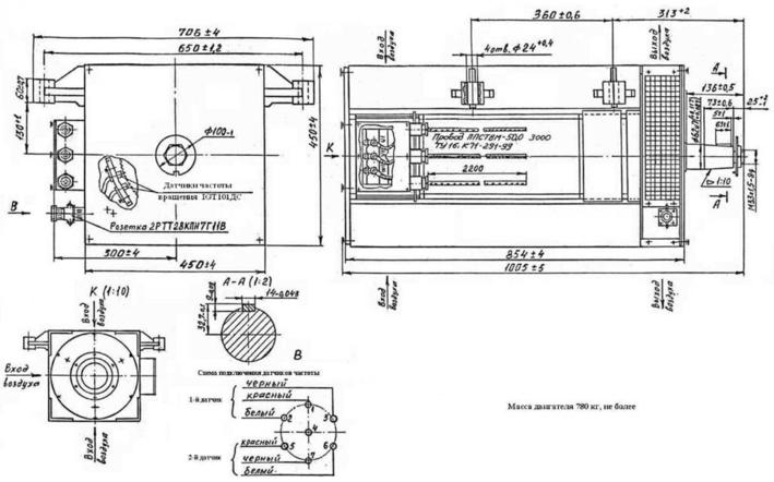 Тяговый двигатель ДТА-2У1