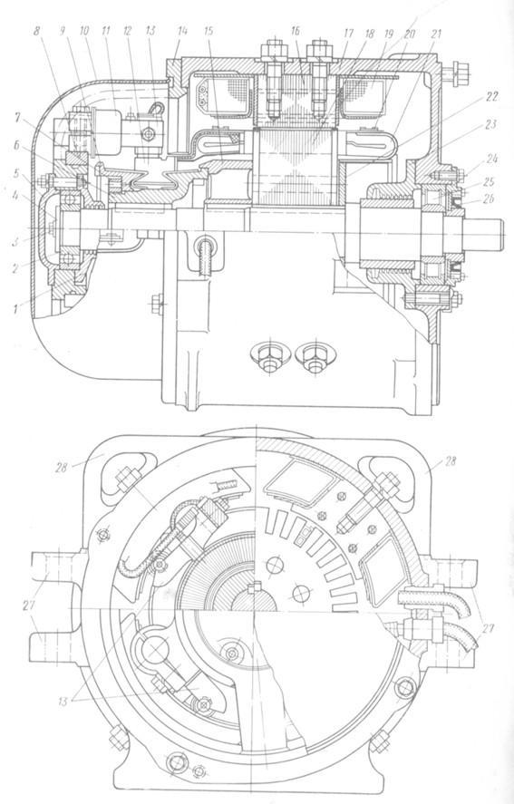 Чертеж электродвигателя