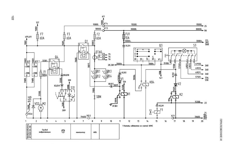 Троллейбус МАЗ 203Т.Система включения питания