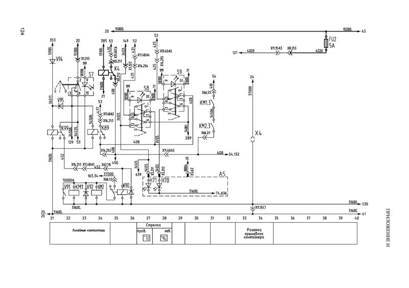Троллейбус МАЗ 203Т. Линейные контакторы, переход стрелки, розетка