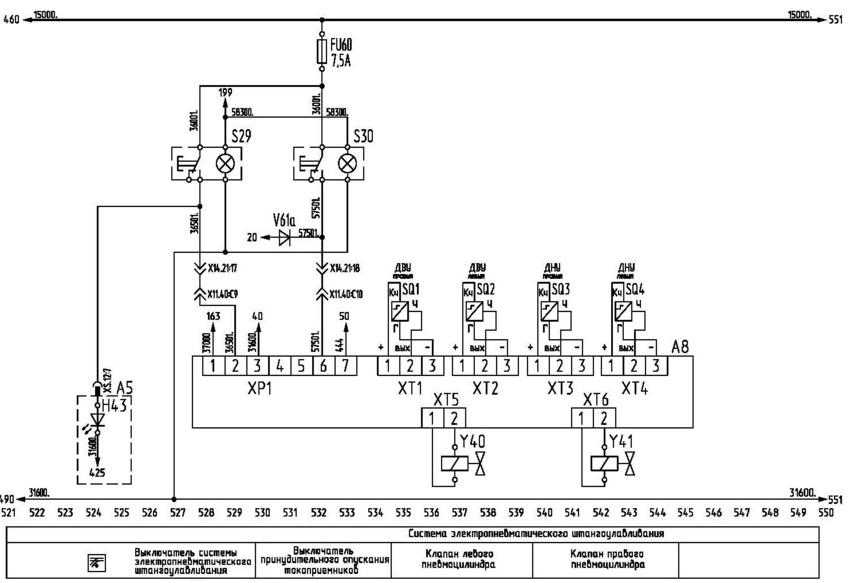 Система электропневматического штангоулавливания