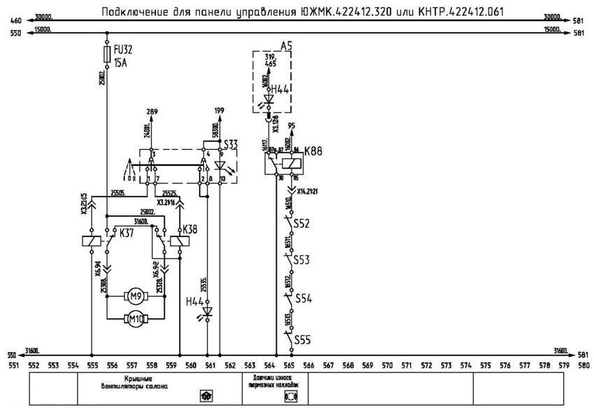 Система смазки, крышные вентиляторы, датчики износа тормозных накладок, электронные компостеры