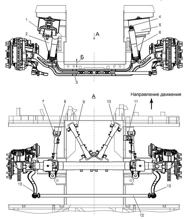 Подвеска переднего моста