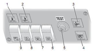 Переключатели на верхней панели