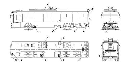 Троллейбус МАЗ ETON. Установка электрооборудования