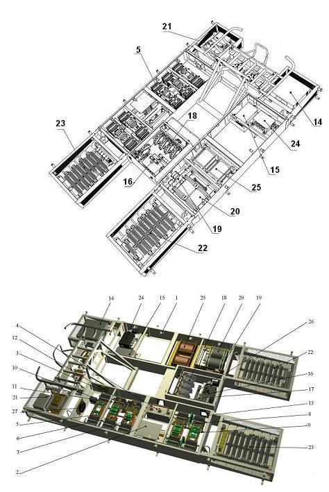 Троллейбус МАЗ ETON. Установка электрооборудования на крыше
