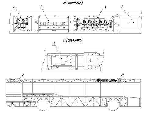 Троллейбус МАЗ ETON. Установка электрооборудования на салоне