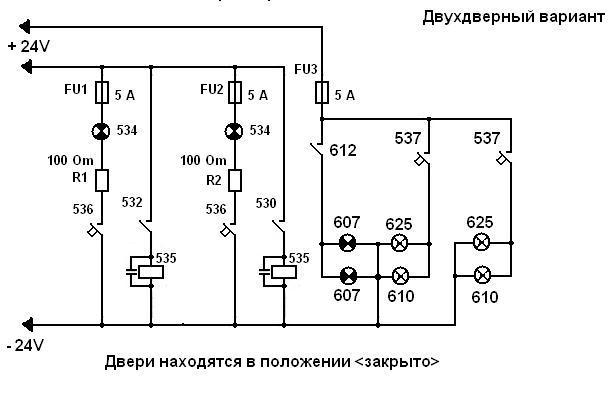 Схема правления дверями