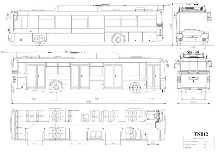 SOR_12. Чертеж троллейбуса
